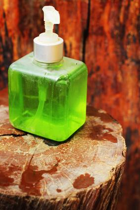 Liquid hand soap.